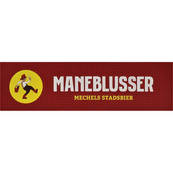 Rode barmat met logo Maneblusser