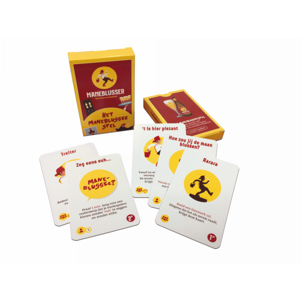 Kaartspel Maneblusser met verschillende opdrachten
