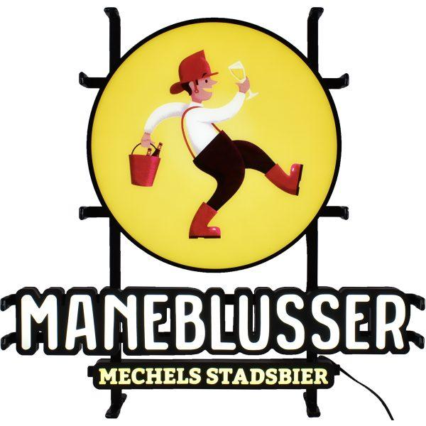 LED Muurbord met het Maneblusser logo