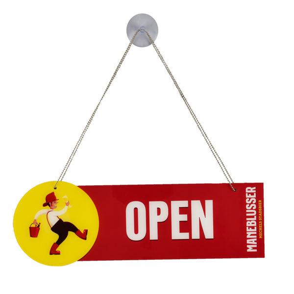 Open Closed sign Maneblusser met zuignap - open