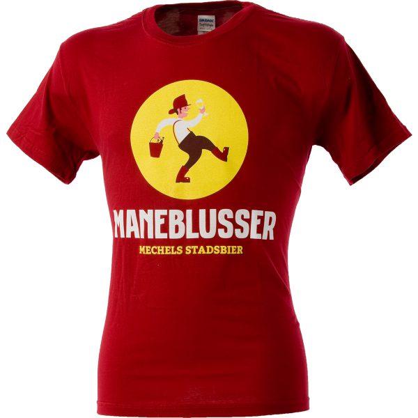 Rode T-shirt met Maneblusser logo