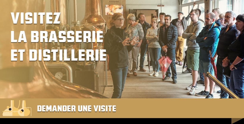 Bezoek de brouwerij en stokerij, vraag een rondleiding aan