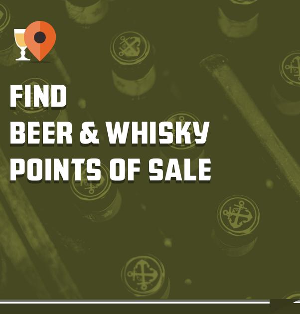 Vind bier & whisky verkooppunten
